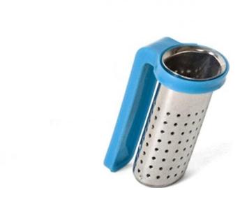 Ant puodelio krašto tvirtinamas filtras arbatžolėms