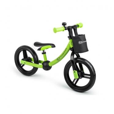 """Balansinis dviratis naujo modelio ratais """"Kinderkraft 2way next"""". Žalias"""