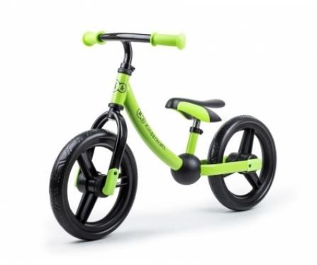 """Balansinis dviratis su naujo modelio ratais """"Kinderkraft 2way next"""". Žalias"""