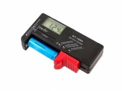 Baterijų testavimo prietaisas su LCD ekranu