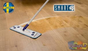 """Efektyvus grindų valymas su naujuoju """"Smart Microfiber Mopp"""" šepečiu"""