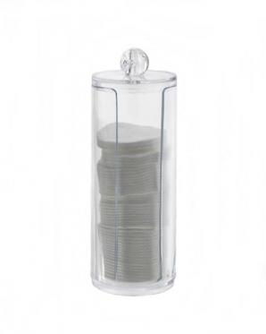 Elegantiškas indas vatos lapeliams, plastikinis