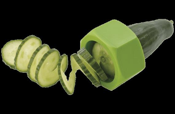 Spiralinė daržovių pjaustyklė, žalios spalvos