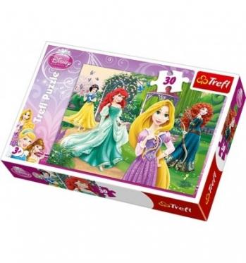"""""""Trefl"""" spalvinga dėlionė """"Princesės"""", 30 dalių"""