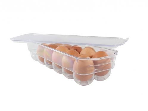 """Plastikinis indelis kiaušinių laikymui """"Fresh Life"""", 32,5 x 11,5 x 7,8 cm"""