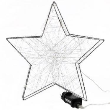 Kalėdinė LED lempučių žvaigždė, 58 x 58 x 5 cm