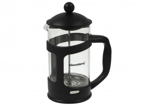 """""""Klausberg"""" stiklinis kavos-arbatos indas su nuspaudėju, 1 l"""