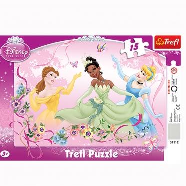"""""""Trefl"""" dėlionė """"Princesių pavasario šokis"""", 15 dalių"""