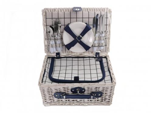 Iškylos krepšys-komplektas su šaltkrepšiu 4 žmonėms, 40 x 18 x 28 cm