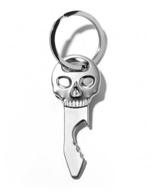 """Metalinis butelių atidarytuvas su žiedu """"Kaukolė"""", 6,5 x 2,5 x 0,3 cm"""