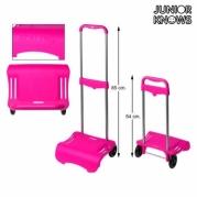 """Sulankstomas kuprinės vežimėlis """"Junior Knows"""", 80 x 28 cm, Fuksija"""