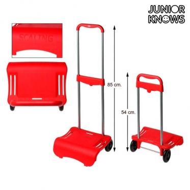"""Sulankstomas kuprinės vežimėlis """"Junior Knows"""", 80 x 28 cm, Raudonas"""
