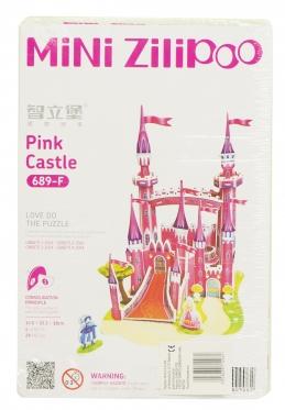 """Mini Zilipoo"" 3D dėlionė ""Rožinė pilis"", 13,5 x 15,3 x 18 cm"