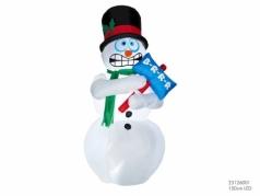 """Pripučiama dekoracija su LED apšvietimu """"Sniego senis"""", 1,8 m"""