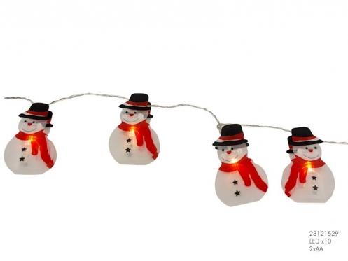 """LED lempučių girlianda """"Sniego seniai"""", 10 diodų"""