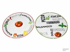 Itališko maisto įkvėpto dizaino lėkštė, 30,5 cm