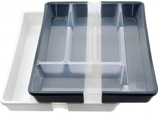 Reguliuojamo dydžio stalo įrankių dėklas, plastikinis