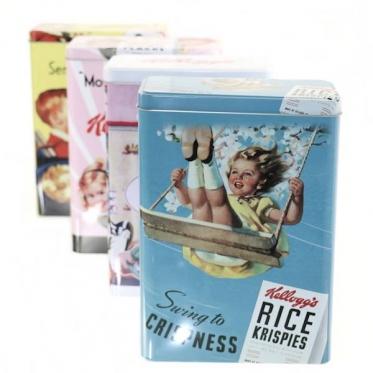 Metalinė dėžutė maistui ar daiktams laikyti, 18 x 10 x 24,5 cm
