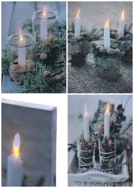 """Paveikslas su LED apšvietimu """"Kalėdų dekoracijos"""", 30 x 40 cm"""