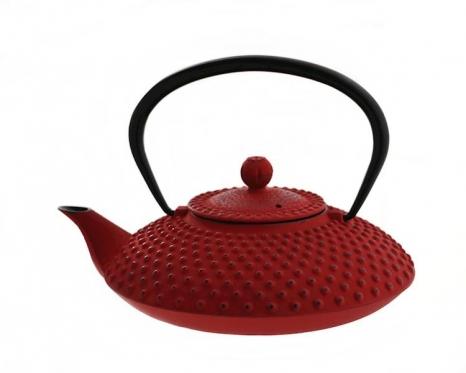 Raudonas japoniško stiliaus ketaus arbatinukas, 1,25 l