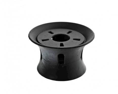 Juodas ketaus arbatinuko šildytuvas, 13 x 7,5 cm