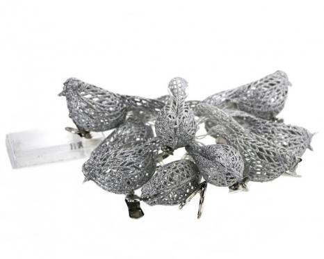 """LED lempučių girlianda """"Sidabro paukščiai"""", 100 cm"""