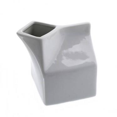 """Baltas porcelianinis ąsotėlis """"Pieno pakelis"""", 250 ml"""