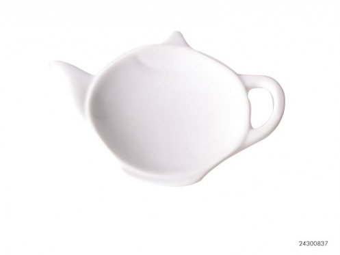 Arbatinuko formos balta porcelianinė lėkštė, 12 x 8,5 cm