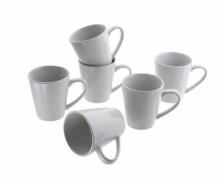Baltų porcelianinių puodelių rinkinys, 275 ml