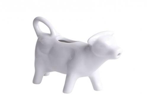 """Baltas porcelianinis ąsotėlis """"Karvutė"""", 70 ml"""