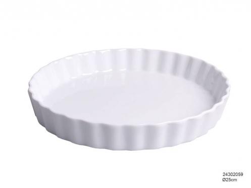Elegantiško dizaino porcelianinis indas, 25 x 3,5 cm