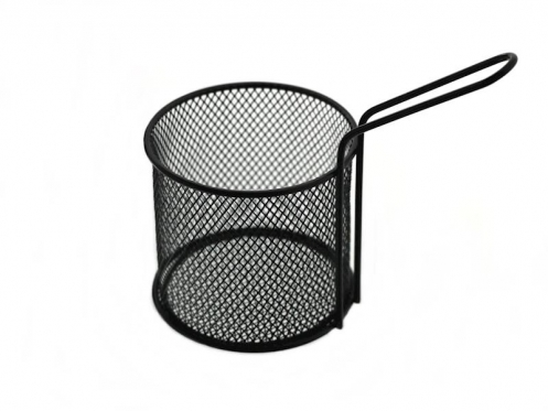 Nerūdijančio plieno krepšelis su rankena, 8,5 cm