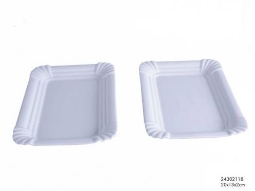 Porcelianinė maisto serviravimo lėkštė, 25 x 16 cm