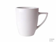 Baltas porcelianinis puodelis su rankena, 275 ml