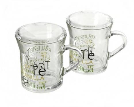 """""""Borgonovo"""" stikliniai puodeliai su dangteliais, 2 vnt., 300 ml"""