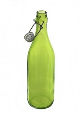 """Įvairios spalvos! Stiklinis butelis su sandariu dangteliu """"Lella"""", 1 l"""