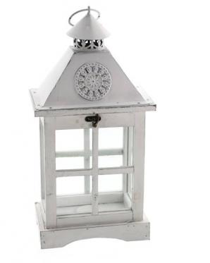 Medinis dekoracinis namelis žvakei, Baltas