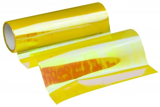 Automobilio žibintų plėvelė, 0,3 x 8,5 m (geltona chameleonas)