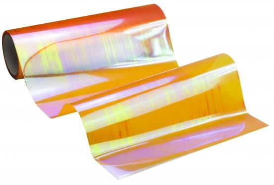 Automobilio žibintų plėvelė, 0,3 x 8,5 m (oranžinė chameleonas)