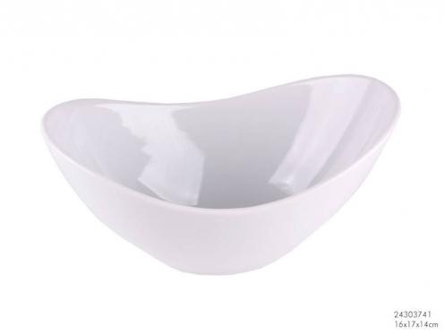 Išskirtinis dizainas! Baltas porcelianinis dubuo, 26,5 x 17 x 15 cm