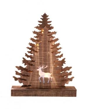 """Medinė dekoracija su LED apšvietimu """"Eglės"""", 27,5 x 21 cm"""