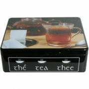 Metalinė dėžutė arbatai, 20 x 15,5 x 6,5 cm