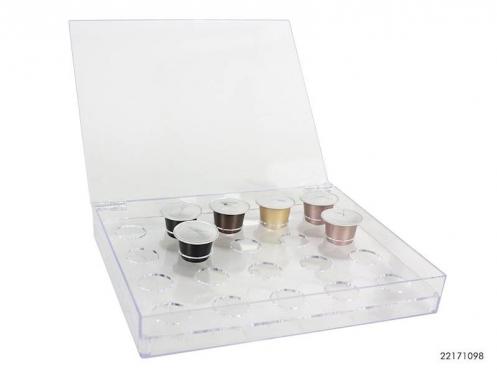 Plastikinė dėžutė kavos kapsulėms, 23,5 x 19 x 3,5 cm