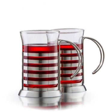 """""""Boral"""" borosilikatinio stiklo puodeliai """"Presso"""", 2 vienetai"""