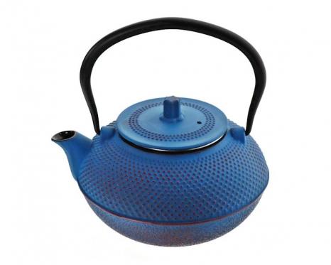 Mėlynas japoniško stiliaus ketaus arbatinukas, 1,5 l
