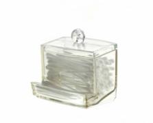 Elegantiška plastikinė dėžutė ausų krapštukams, 10,5 x 9 x 6,5 cm