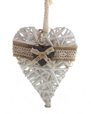 """Pakabinama dekoracija """"Medžio širdis"""", 16,5 x 18 x 5 cm"""