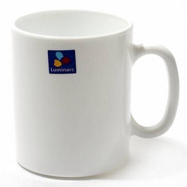 "Baltas grūdinto stiklo puodelis su rankena ""Luminarc Evolution"", 320 ml"