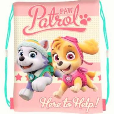 """Kuprinė - maišas su virvutėmis """"Šunyčiai patruliai"""", 42 x 32 cm"""