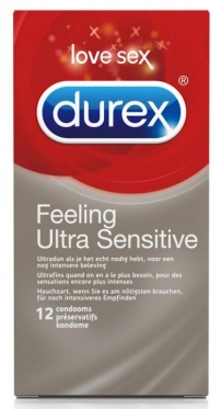 "Prezervatyvai ""Durex"" Feeling Ultra Sensitive, 12 vnt"